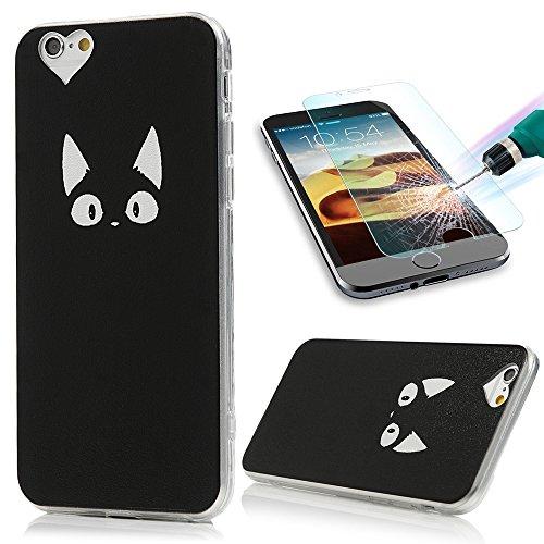 ケイ素大宇宙ヘッジiPhone6S ケース iPhone6ケース おしゃれ TPU ソフトケース スリム フィット YOKIRIN® 猫の顔 アイフォン6/6s フルカバー 落下防止 耐衝撃 軽量 保護キャップ スマートフォン用 カバー