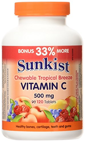 Sunkist Vitamin C 500 mg · Chewable, Tropical Breeze, 120 tablets