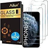 Ailun for Apple iPhone 11 Pro Max/iPhone Xs Max Screen Protector 3 Pack 6.5 Inch 2019/2018 Release Tempered Glass 0.33mm Anti Scratch Advanced HD Clarity Work with Most Case