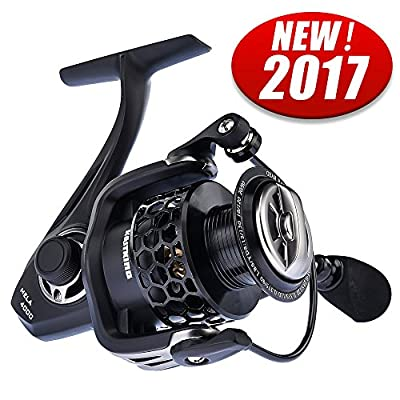 KastKing Mela Spinning Reel - Light, Smooth, 10 + 1 BB, Powerful Carbon Fiber Drag System, FREE Spare Graphite Spool, Upgraded Version of 2017!