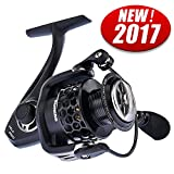KastKing Carbon Fiber Mela Spinning Fishing Reel with Graphite Spool - Black