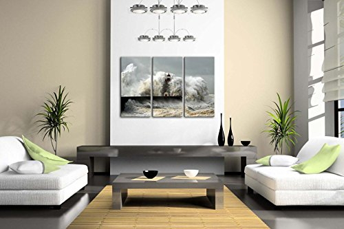 Lighthouse In The Waves Of The Sea Wall Art Painting The Picture Print On Canvas Seascape Pictures For Home Decor Decoration Gift
