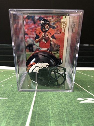 Denver Broncos NFL Helmet Shadowbox w/Case Keenum card