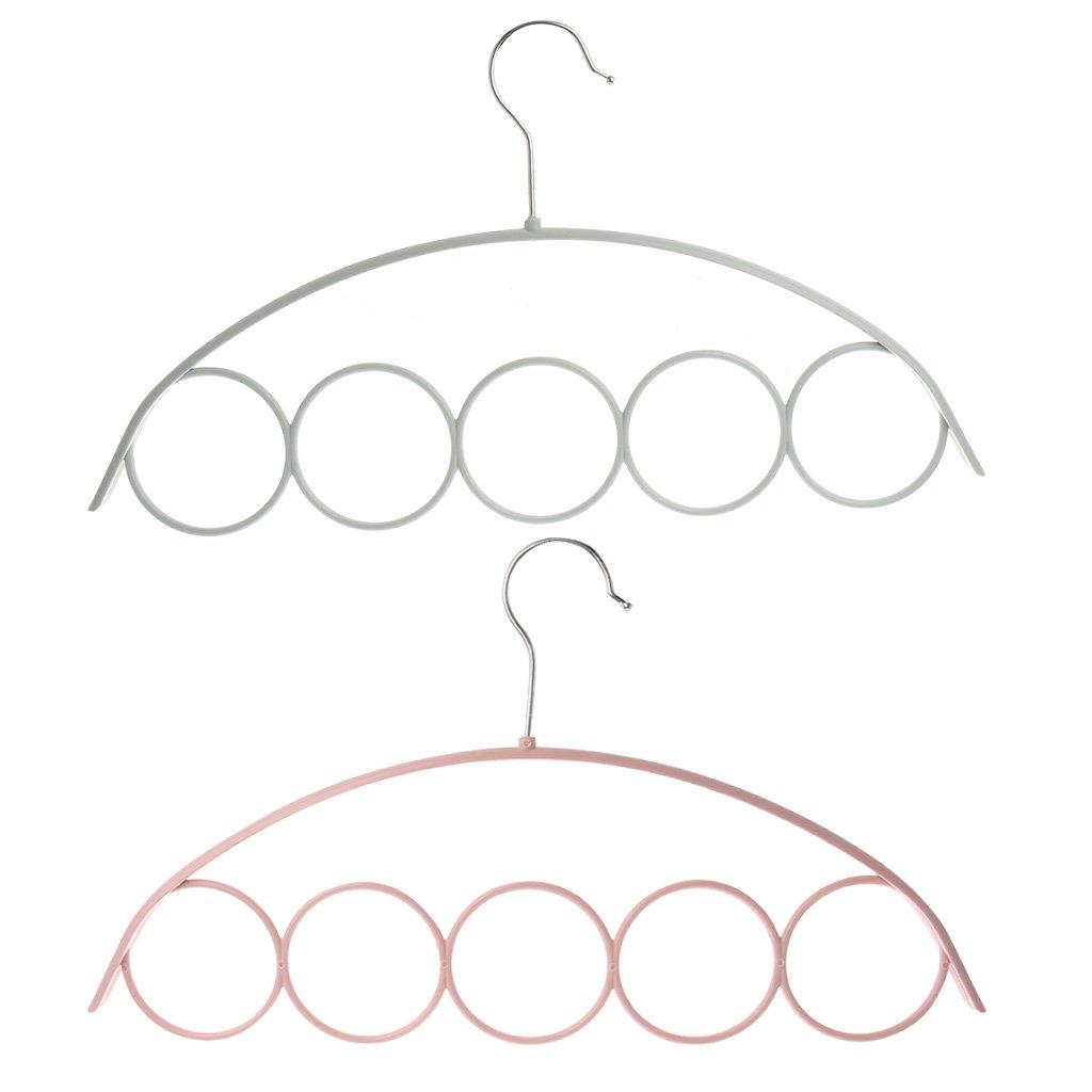 Pommee Cintres Cinq Anneaux Antid/érapant en Plastique Armoire De Rangement pour /Écharpe Porte-Cravates Couleurs Al/éatoires