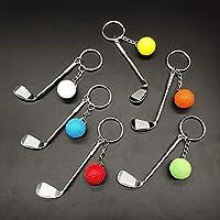 Amazon.com: Juego de llaveros de golf – 6 piezas Mini Golf ...