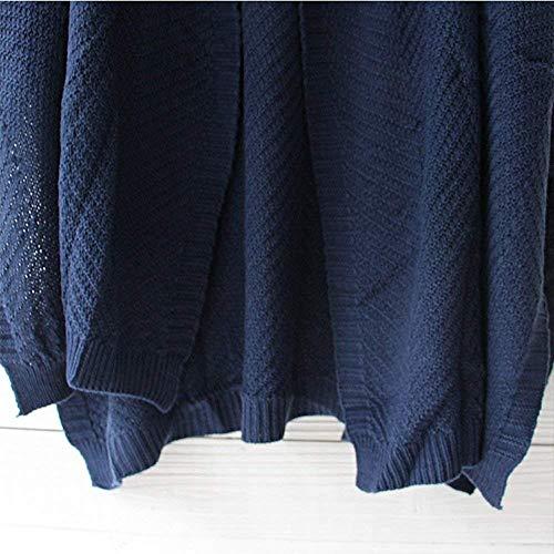Tamaño Chaqueta Suéter Las Mujeres Camiseta De Exterior Blusa Manga Zhrui Tops La Punto Larga Del Señoras Gran Abrigo Sólido Lotes Capa Ropa wqUw6XB8