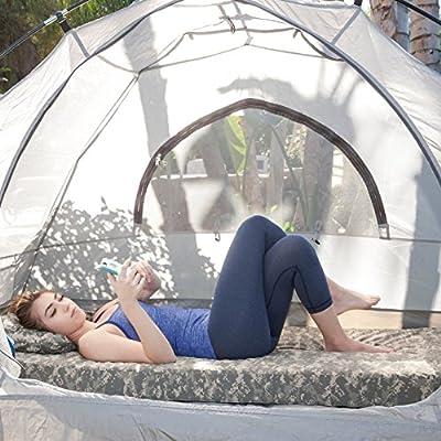 Integrity Bedding Roll-n-Go Memory Foam Orthopedic Camping Sleeping Pad with Bonus Pillow