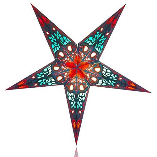 Happy Sales HSSL-FORNBL Orion Paper Star Lantern Blue, (Lantern For Sale)