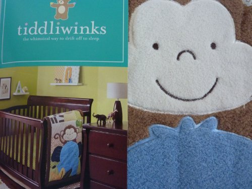 - Tiddliwinks Safari Friends 3pc Baby Crib Bedding Set - Green/Brown