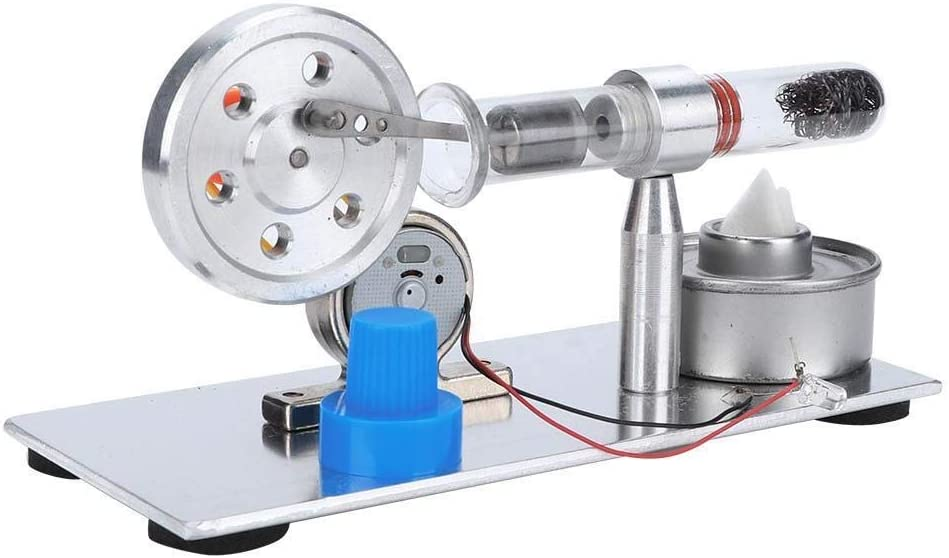 Rockyin Single Cylinder Sterling Engine Model Steam Power Physics Science Lab Teaching Tool