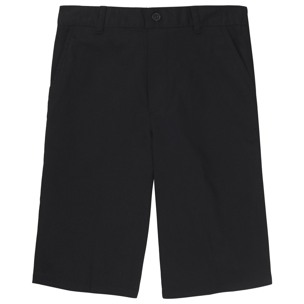 French Toast Boys' Pull-On Short, Black, 14 Husky by French Toast