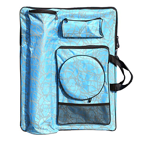 Artoop Large Art Portfolio Carry and Backpack Bag Blue Color Size 26.3''x18.9'' by Artoop