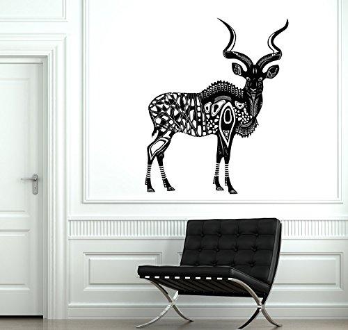 (Wall Decal Animal Deer Antelope Kunu Africa Mural Vinyl Decal Sticker and Stick Wall Decals )