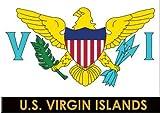 "US Virgin Islands Flag Caribbean Fridge Collector s Souvenir Magnet 2.5"" X 3.5"""
