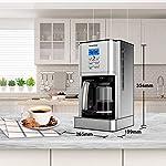 Macchina-CaffeBonsenkitchen-Macchina-Caffe-Americano-1000WattCaffettiera-Americana-Digitale-Automatica-con-Timer-e-Display-18L-Fino-a-12-Tazze-Acciaio-Inox