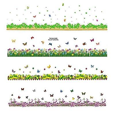 Carejoy® Bright Butterfly Garden Decorative Peel & Stick Wall Art Sticker Decals