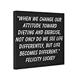 Vlacom Canvas Picture Frames Print Canvas Weight Loss Attitude 4