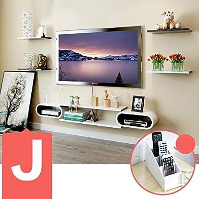 DIDIDD Set-Top Box Estantes Gabinete de TV Estantes de pared de TV Sala de estar Paredes de pared Estante de pared Decoración de pared (múltiples estilos disponibles),J: Amazon.es: Hogar