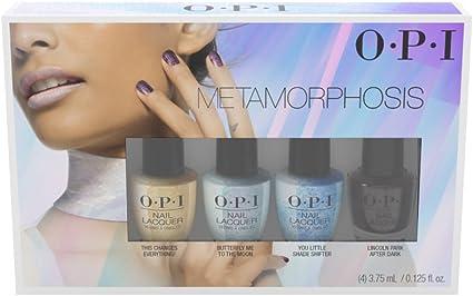 OPI Nail Lacquer - Metamorphosis 2018 Mini 4 Pack - BLACK - 3.75 ...