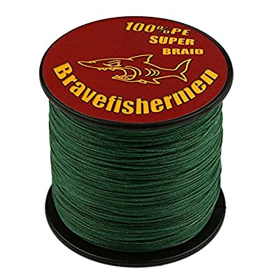 Bravefishermen Super Strong PE Braided Fishing Line Dark Green from Bravefishermen