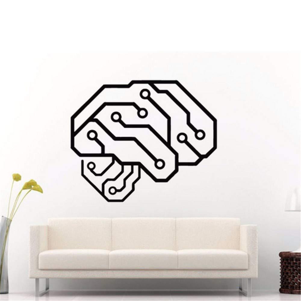 Pbldb 42X50 Cm Etiqueta De La Pared Neuroeléctrica Cerebro Humano ...