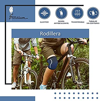 STADIUM - Rodillera, Azul, S, para protección menisco y ligamentos ...