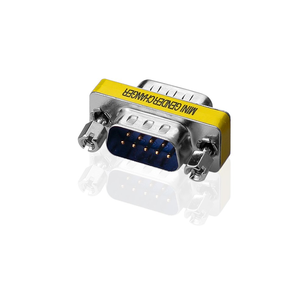 5 Macho + 5 Hembra Adaptador SIENOC Adaptador de adaptador de g/énero de 9 pines serie RS232