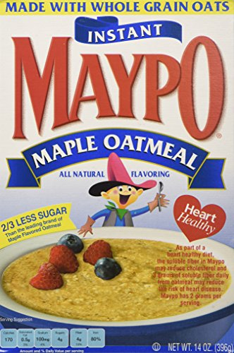 Maypo Oatmeal Inst Maple, 14 OZ Pack of 6 - Instant Oatmeal Hot Cereal