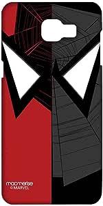 حافظة هاتف سامسونج A9 عليها صورة الرجل العنكبوت مع تركيز الوجه ماكمريسي