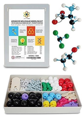 Molecular Model Kit with Molecule Building Software, Organic Chemistry Set by Dalton Labs - Advanced Teaching Edition Educational Set - 178 pcs Color Coded Atoms, Bonds, Orbitals, Links - Science (Ap Biochemistry)