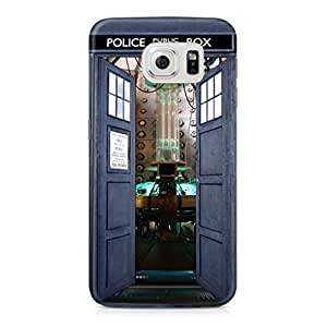 Doctor Who Inside Police Public Call Box Unique A1 Full Wrap Rough Case Skin, Fashion Design Image Custom , Durable Hard 3d Case Cover for Samsung Galaxy S6 Regular, Case New Design By Art-print