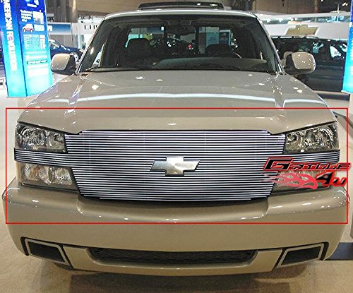 APS Compatible with 2003-2005 Silverado/SS 1500/2003-2006 Avalanche Full Opening Billet Grille Grill Insert #N19-A62058C