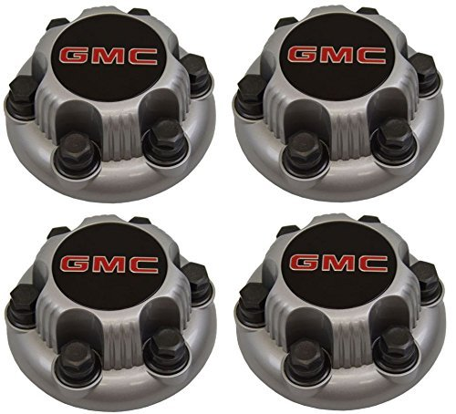 Set of 4 SILVER GMC Sierra Yukon Savana 6 Lug 1500 Center Caps 16' 17' Wheels DX AUTO