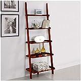 Mintra Cherry Finish 5-Tier Ladder Book Shelf