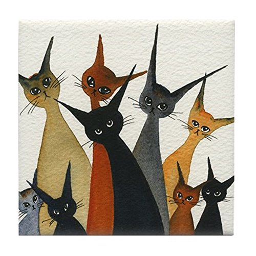 CafePress - Irvine Stray Cats Coaster - Tile Coaster, Drink Coaster, Small Trivet ()