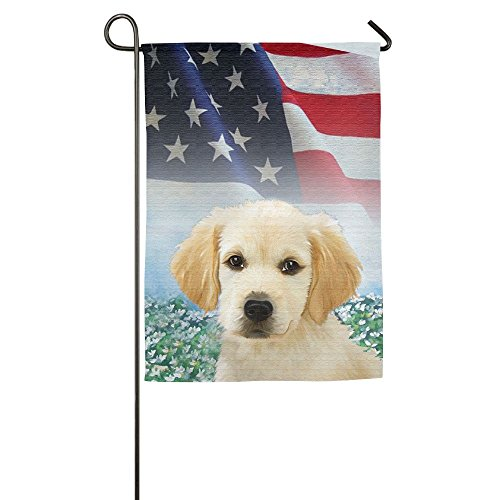 Pickle Rick Golden Retriever Small Spring Yard Flag Outdoor