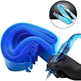 Hisight Tattoo Clip Cord Covers 200pcs Heavy Duty Disposable Hygiene Tattoo Clip Cord Sleeves Covers Supply Tattoo Machine Gun Accessories (blue-200)