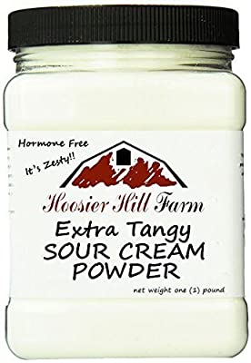 Hoosier Hill Farm EXTRA Tangy Sour Cream Powder, Hormone Free, Gluten Free, Made in USA, 1 lb