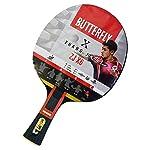 Butterfly-Zhang-Jike-ZJX-6-Racchetta-da-ping-pong-professionale-unisex-colore-NeroRosso-Full-size