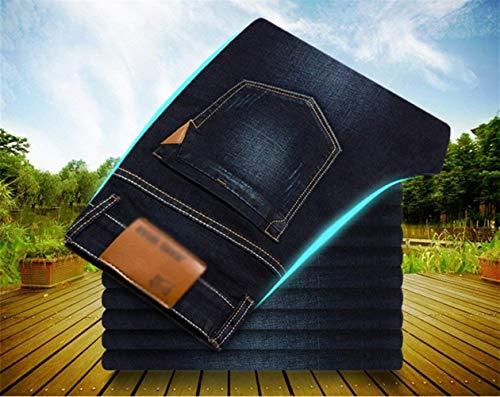 Classiche Casual Casuali Jeans Gambe Moda Pantaloni Stretch Ragazzi Slim Formato Uomini Grande Nero Dritte Pzx8nPwp