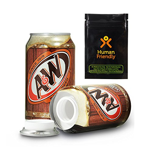 A&W Root Beer Diversion Safe Secret Stash Can w HumanFriendly Smell Proof Bag
