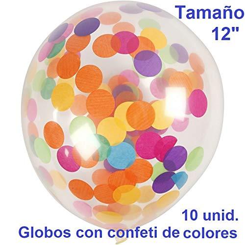 DHECOMYR Kit decoración fiesta, boda, comunión, cumpleaños, bautizo. Set globos confeti dorado / mixto + inflador.: Amazon.es: Juguetes y juegos