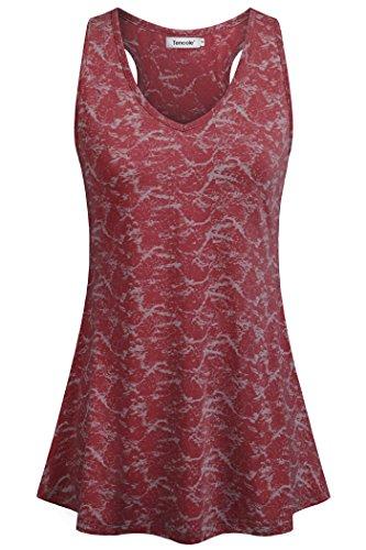 Tencole Funny Yoga Tanks for Women Yoga Print Tank Tops red Tunic Tops for Women Dressy Sleeveless Knit Tunic Tops Red - Athletic Top Tank Print