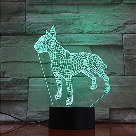 wangZJ 3d luz de noche / 3d lámpara / 7 colores cambiando ilusión ...
