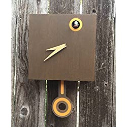 Modern Cuckoo Clock - Wall Mount with working cuckoo bird