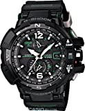Military Watches Casio G-Shock GWA-1100-1A3 G-Aviation Series Mens Stylish Watch - Black / One Size