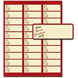 Merry Christmas Gift Package Address Labels - 150 Labels