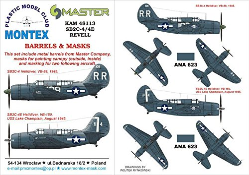 Montex KAM 1:48 SB2C-4 Helldiver #1 for Revell Mask for sale  Delivered anywhere in USA