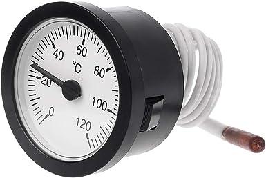 Jenor Temperaturmesser Für Kapillartemperatur 0 120 Wasser Und Öl Mit 1 M Sensor Beleuchtung