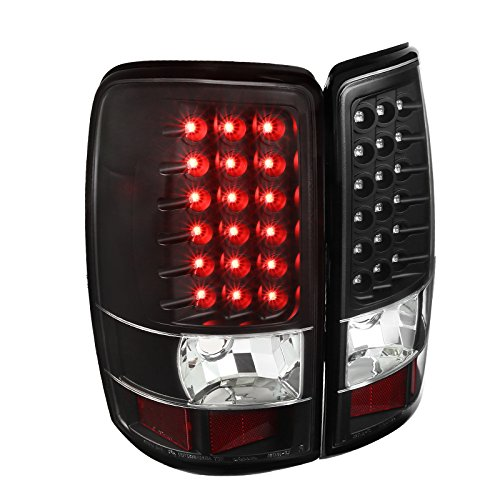(Full Black Chevy Suburban Tahoe GMC Yukon Denali LED Tail Lights Brake)